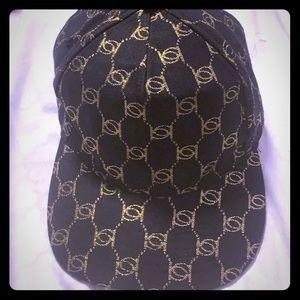 Bebe gold logo black hat (discontinued) NWOT